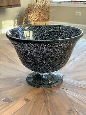 New listing Black Mosaic Glass Bowl