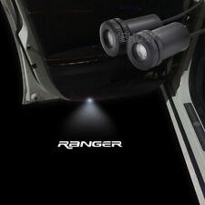 2pcs White Logo Car Door LED Laser Projector Ghost Shadow Light For Ford Ranger