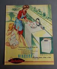 PUB PUBLICITE ANCIENNE ADVERT CLIPPING 060817 / MACHINE À LAVER NIAGARA SCHOLTÈS