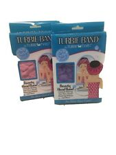 Turbie Band Head Band ~ by Turbie Twist (Lot of 2) Purple/Pink ~ NEW in Package