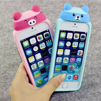 3D Cute Cartoon Soft Silicone Back Rubber Case Cover Skin For iPhone 6 6S Plus