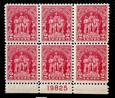 1929 US Stamp SC#680 2c General Wayne Memorial Plate Block 6 MNH/OG CV:$30