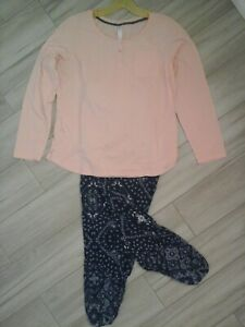 Mix & Match Solid Pink Knit Top/Woven Navy Pant ( see description ) Size XL