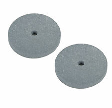 """2 PC 6"""" Emory Style Grinding Stone Wheel For Bench Grinders - 3/4"""" Thick (Fine)"""