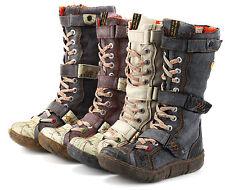 TMA Damen Schuhe Winterstiefel Comfort Freizeit Stiefel Warmfutter Boots 7086N