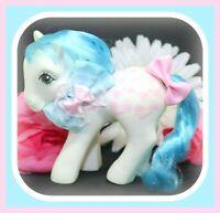 ❤️My Little Pony MLP G1 Vtg Twice as Fancy Perm Shoppe FIFI White Pink Bows❤️