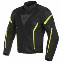 Jacket Man Dainese Air Chrono 2 Tex Black Yellow Size 46 Moto Summer Perforated