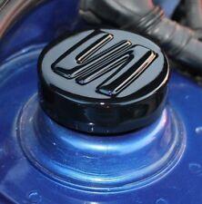 Seat Leon 1M MK1 Strut Cap Covers Cupra ABS - Gloss Black - SEAT LOGO