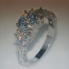 5.80/ct Lab diamond & Sapphire Ring 10KT White Gold PG Size  L12 - N12 - P12