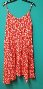 Gap Red Printed Summer Dress Size L