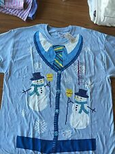 NWT Ugly Christmas T Shirt  Size XL Male Fake Tie Look Party Fun!!