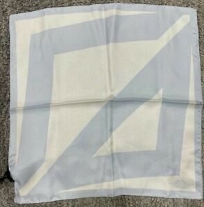 Air Dior Jordaan Basketball White Blue Silk Bandana Pocket Square Handkerchief
