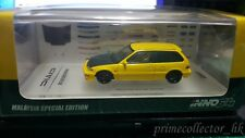 INNO64 1/64 Honda Civic EF9 SiR 1987-1991 Yellow/Black Malaysia Special Edition
