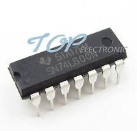 10PCS SN74LS00N TI IC GATE NAND 4CH 2-INP 14-DIP NEW 74LS00