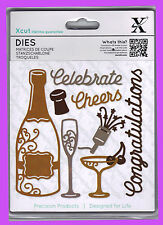 DOCRAFTS XCUT DIES CELEBRATE CONGRATULATIONS - 8 DIES IN PACKAGE