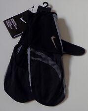 Nike Hombre Convertibles Correr Guantes Manoplas Negro/Gris Fresco/Plata