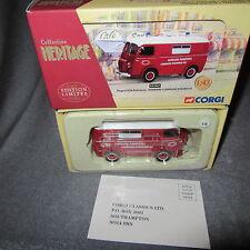 13C Corgi Heritage 70627 Peugeot D3A Pompiers Ouroux 1:43