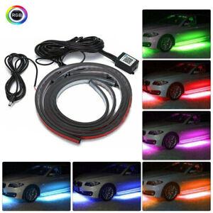 4pcs RGB LED Unterbodenbeleuchtung Atmosphäre Neon Licht Lampe APP Musik Remote