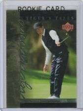 TIGER WOODS RC Golf PGA ROOKIE CARD Upper Deck Foil 2001 Trading LE
