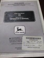 John Deere 1600, 1620 Wide Area Mower Operator's Manual 2001
