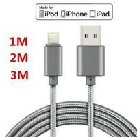 Genuine USB Cable Charger for Apple iPhone X 8 7 6 5 5s iPad Nylon 1M /2M Cord