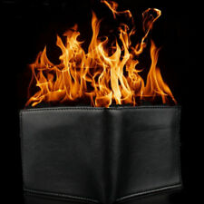 Magic Trick Flame Fire Wallet Leather Magician Stage Perform Street Prop Show ~~