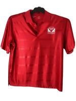 Antigua Polo Shirt Mens Golf With Logo Double Eagle Golf Classic XL Red A5