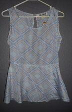 Annabella by Francesca's Open Back Perplum Blouse/Top Women's size Small  NWT!