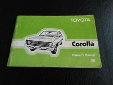 Toyota Corolla E 1977  Owner's Manual Manuel du conducteur  Fahrer-Handbuch