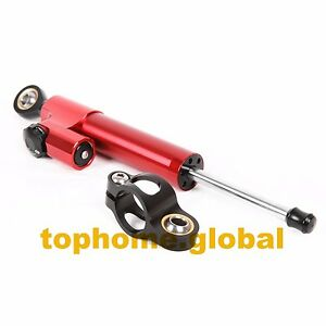 Universal Adjustable CNC Steering Damper Stabilizer Reversed Safety Control Red