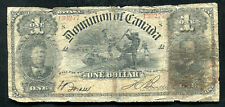 DC-13c 1898 $1 ONE DOLLAR DOMINION OF CANADA BANKNOTE