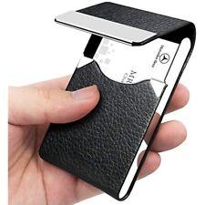 Padike Professional Business Card Holder Pu Leather Case Name Slim Metal Pocket