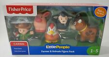 Fisher-Price Little People - Farm Animal Friends Figure Set of 5 - New