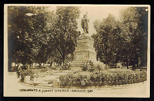 1922 Mexico Real Picture RPPC Postcard Cover to Brazil Monument to Juarez Oaxaca