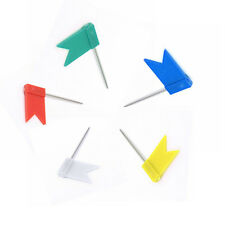 20pcs Flag Marker Shape Map Pins Cork Notice Board Push Pin Office Home Assorted