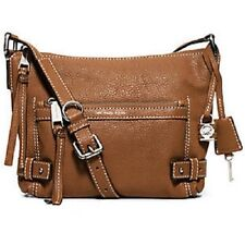 NWT MICHAEL KORS ABBY SMALL SHOULDER BAG GOAT LEATHER WALNUT $228 30F5SYBL1L