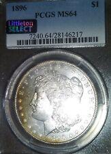 1896 morgan silver dollar. PCGS MS64