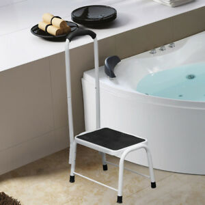 BATH KITCHEN NON SLIP SAFETY STEP STOOL MOBILITY SUPPORT PLATFORM HANDRAIL AID