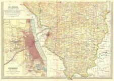 Chicago Illinois Antique North America County Maps Ebay