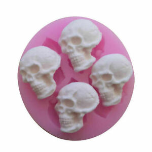 Halloween Skull Mould Spooky Party Candy, Chocolate Cake Topper Food Silicone UK