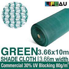 30% GREEN 3.66 x 10m Shade Cloth Shadecloth Greenhouse Scaffold Mesh 3.66 width