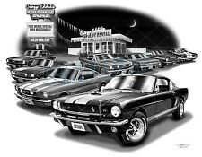 "MUSTANG 66 MUSCLE CAR ART AUTO PRINT #2112 ""FREE USA SHIPPING"""
