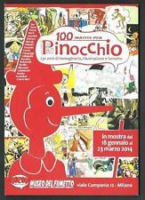100 matite per Pinocchio - cartolina invito a mostra : Museo del Fumetto