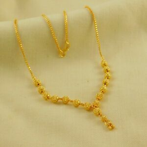 Indian Bollywood Designer 22K Gold plated Neck Chain Women Traditional Jewelry