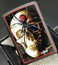 Zippo MAZZI, Skull and Spider, Farbzippo Schwarz