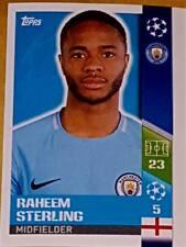 169 Raheem Sterling MAN CITY 2017/2018 Topps UEFA Champions League stickers