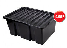 Heavy Duty Storage Box with Lid 14 Ltr Capacity - Storage Container - 40 CM Long