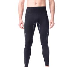 Black Stretch Neoprene Wetsuit Pants Surf Surfing SCUBA Diving Trousers Men S-XL