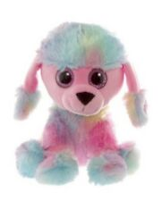 Puppy Party Supplies / Gifts Plush Poodle Soft Toy 20cm Pretty Rainbow Colour