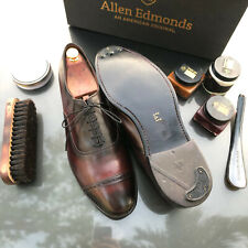 Allen Edmonds Fifth Avenue Burgundy 12 E Cap-Toe Oxfords Custom features+more